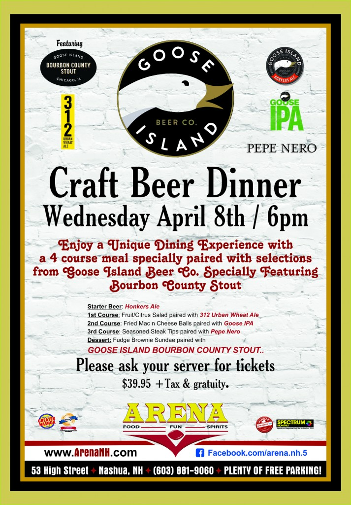 ARENA-2015 Goose Beer Dinner
